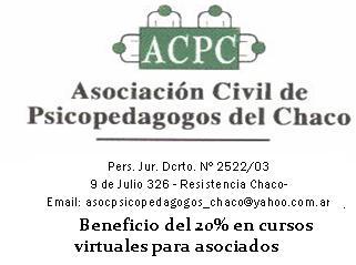 Asociacion Psicopedagogos del Chaco descuento 20%
